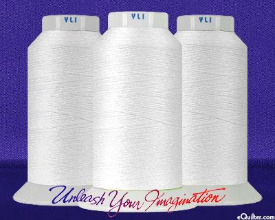 YLI Machine Quilting Thread - 40 wt - 3000 yd - White