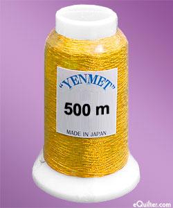 Yenmet Metallic Machine Thread - 546 yd - Warm Gold