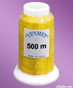 Yenmet Metallic Machine Thread - 546 yd - Classic Gold