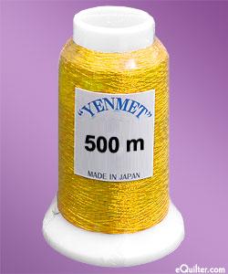 Yenmet Metallic Machine Thread - 546 yd - Brass Gold