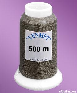 Yenmet Metallic Machine Thread - 546 yd - Charcoal