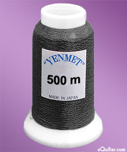 Yenmet Metallic Machine Thread - 546 yd - Jet Black