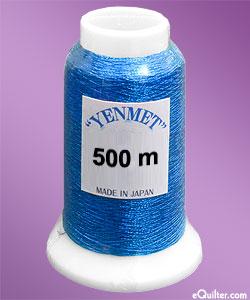Yenmet Metallic Machine Thread - 546 yd - Ocean Blue