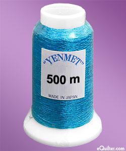 Yenmet Metallic Machine Thread - 546 yd - Turquoise