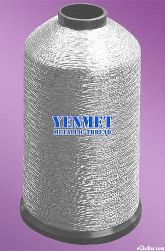 Yenmet Metallic Machine Thread - 5468 yd - Platinum