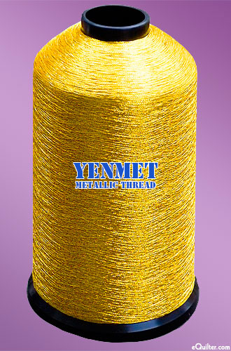 Yenmet Metallic Machine Thread - 5468 yd - Antique Gold
