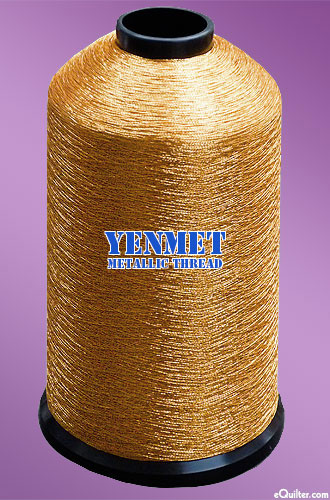 Yenmet Metallic Machine Thread - 5468 yd - Rose Gold