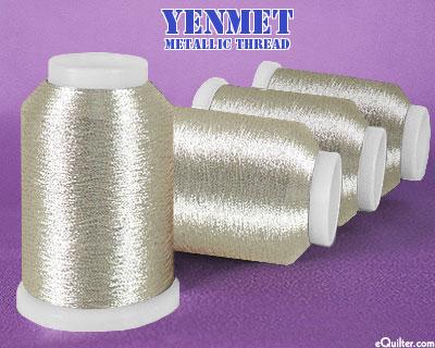 Yenmet Metallic Machine Thread - 1094 yd - Platinum