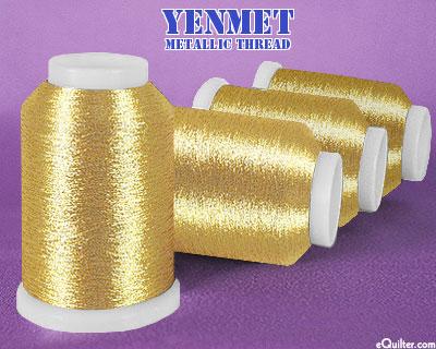 Yenmet Metallic Machine Thread - 1094 yd - Antique Gold