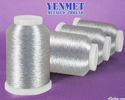 Yenmet Metallic Machine Thread - 1094 yd - Silver