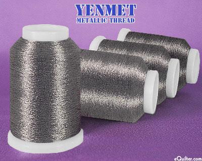 Yenmet Metallic Machine Thread - 1094 yd - Charcoal