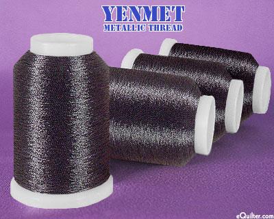 Yenmet Metallic Machine Thread - 1094 yd - Jet Black