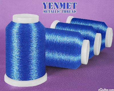 Yenmet Metallic Machine Thread - 1094 yd - Sapphire Blue