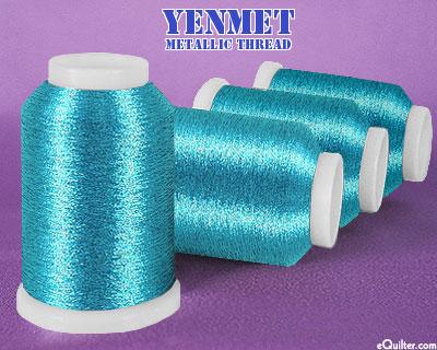 Yenmet Metallic Machine Thread - 1094 yd - Turquoise