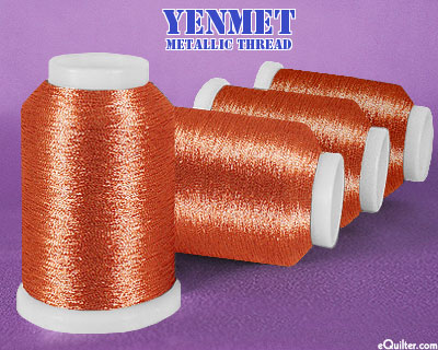 Yenmet Metallic Machine Thread - 1094 yd - Copper