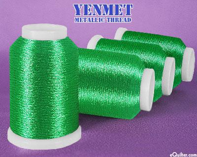 Yenmet Metallic Machine Thread - 1094 yd - Emerald