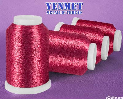Yenmet Metallic Machine Thread - 1094 yd - Cranberry