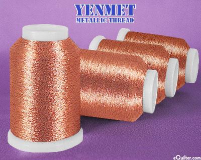 Yenmet Metallic Machine Thread - 1094 yd - Terra Cotta