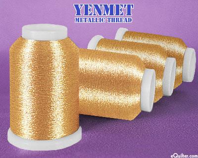 Yenmet Metallic Machine Thread - 1094 yd - Rose Gold
