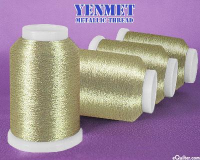 Yenmet Metallic Machine Thread - 1094 yd - Celtic Gold
