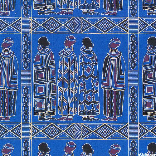 African Import - Ceremonial Costumes - Lapis Blue/Gold