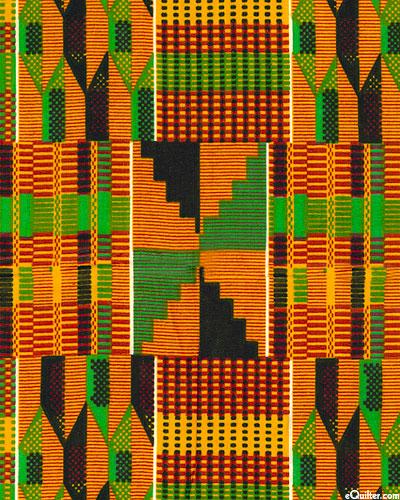 African Import - Strip Kente Cloth - Cinnamon