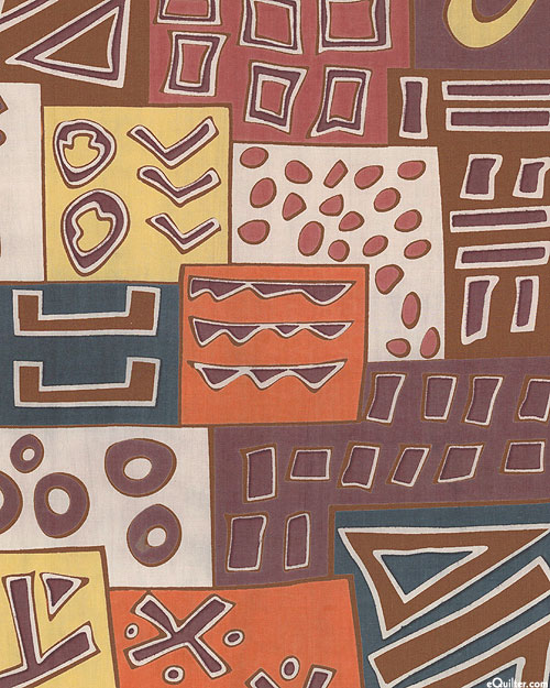 African Import - Bogolan Abstract - Nutmeg Brown