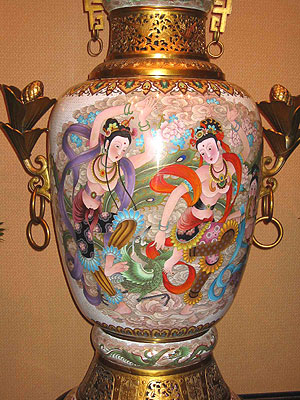 Six Foot Enamel Urn
